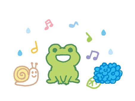Hand-painted crayon rainy season frog 1