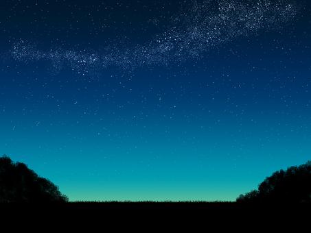 Dusky _ starry sky