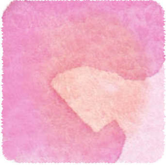 Watercolor frame square pink