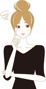 Worried woman _ B 06