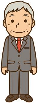 スーツの中年男性