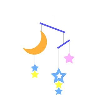 Moon and star decorations 2