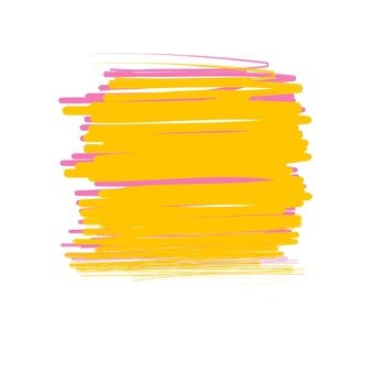 Overcoated yellow and pink