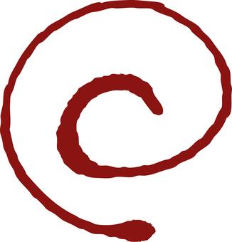 Red brush's circle