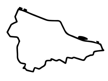 Tama Ward (Kawasaki Prefecture Kawasaki City) Simple Map
