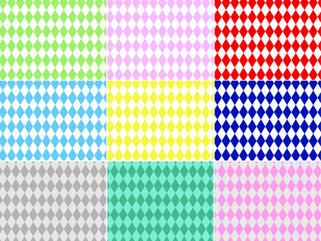 ai diamond pattern with swatches 9 sets