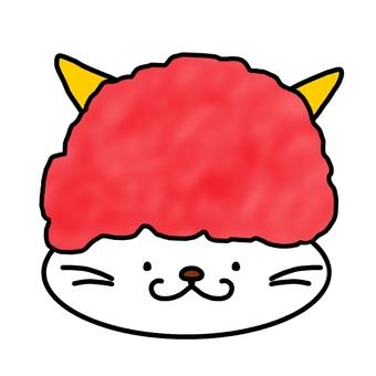 악마의 머리 장식 고양이