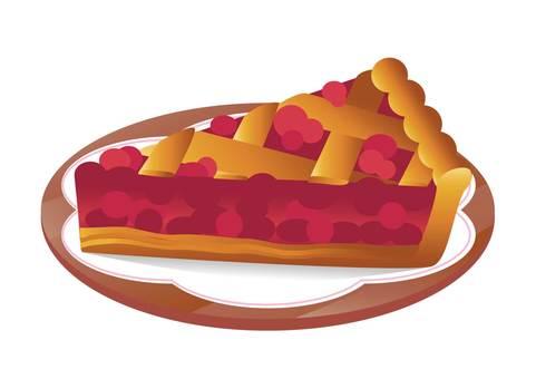 Cherry pie cut