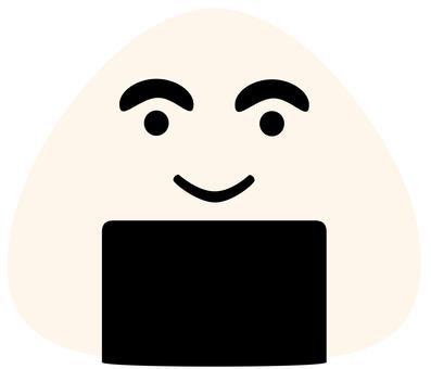 Smiling rice ball