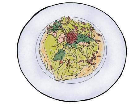 春天蔬菜麵食