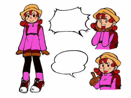 Mountain girl color version.