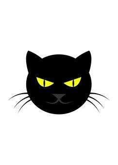 Black cat face 2