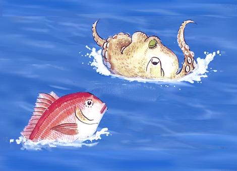 Sea bream and octopus