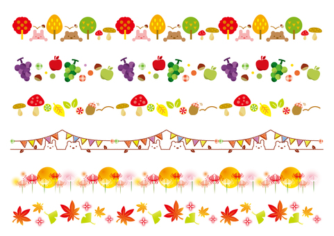 Autumn motif decoration border _01