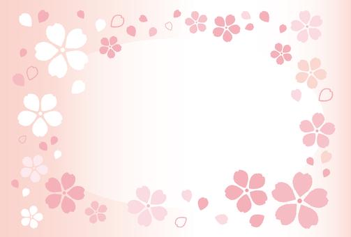 Mokomoko Sakura Frame 01 [Postcard]