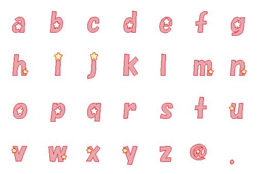 Lowercase alphabet 1