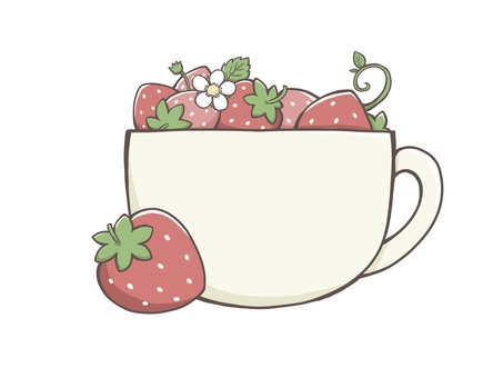 Strawberry and coffee cup