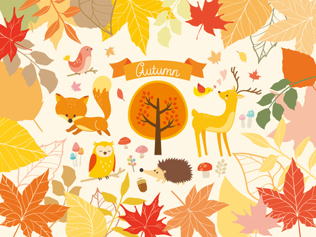 Illustration collection of autumn forest (3)