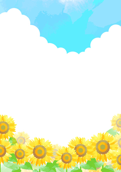 Pastel color sunflower background 5