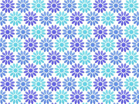 Flower Seamless Pattern Blue