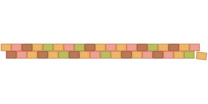 4-color biscuit border