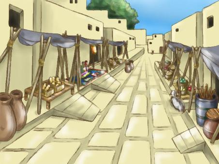 Ancient city (blur) background illustration