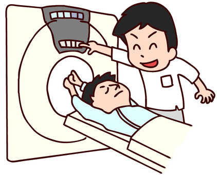 Illustration of MRI examination