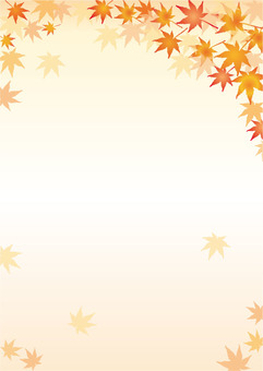Autumn leaves A4 background