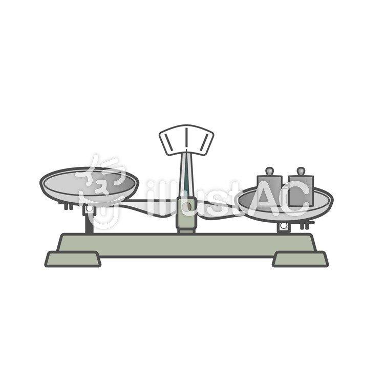 上皿天秤と分銅イラスト No 206174無料イラストならイラストac