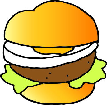 Hand-painted bread (hamburger)