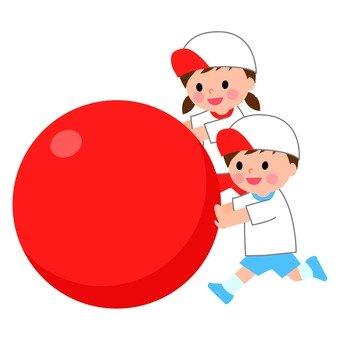 Children playing balls