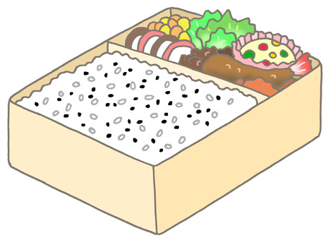 Sesame seaweed lunch box