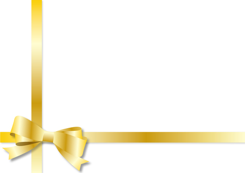 Frame - Double Ribbon Gold 2