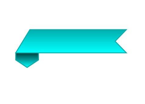 Horizontal ribbon (blue)