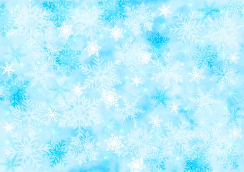 雪の結晶キラキラ背景