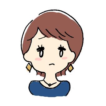 Short hair woman (sorrow)
