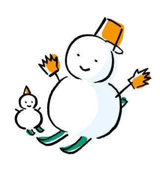 Snowman parent-child