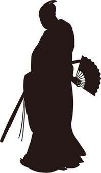 Ukiyo-e People Silhouette Part 21