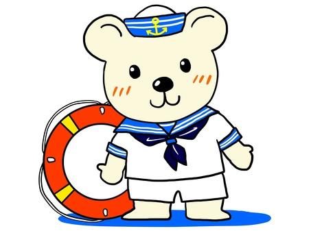 White bear sailor