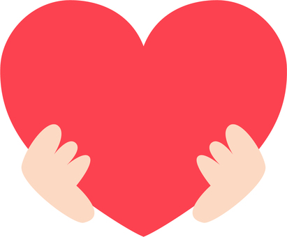 Heart and hand illustration