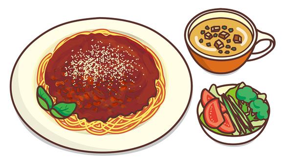 Lunch (spaghetti)