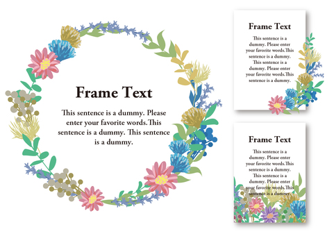 Girly material 020 Flower frame