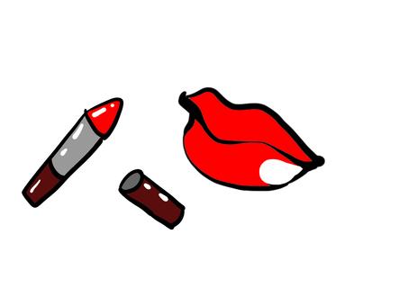 Lip and lipstick