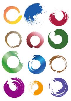Pencil circle / image / drawing / vector data