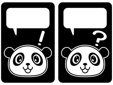 Stamp style - Panda 04