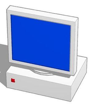 Monitor blue screen