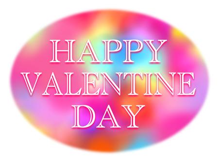 Happy Valentine Oval