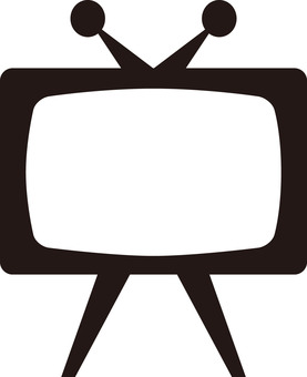 TV TV monitor 【Silhouette】