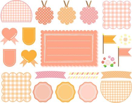 Pink and orange frame