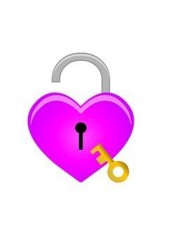 Heart shaped key (with key · peach)